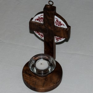 Painted wooden candle