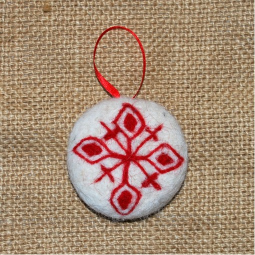 Handmade wool decoration for Christmas Tree